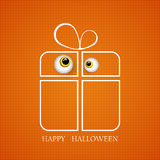Vector illustration of a Great Halloween gift with kind eyes monster EPS10 Stock Photography