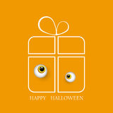 Vector illustration of a Great Halloween gift with kind eyes monster EPS10 Stock Images