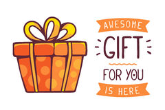Vector illustration of great red gift box Royalty Free Stock Photography