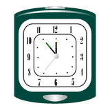 Green alarm clock Stock Image