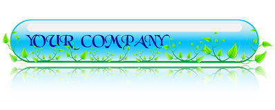 Vector illustration green and blue concept Royalty Free Stock Image
