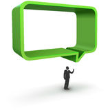 Vector illustration of green dialog box Stock Photo