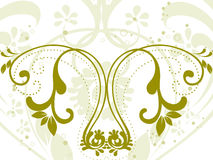 Vector illustration of green floral Royalty Free Stock Photography