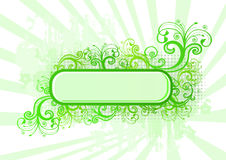 Vector illustration of green frame with patterns Royalty Free Stock Images