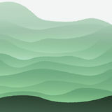 Vector illustration with green hills. Vector illustration with green hills in fog Royalty Free Stock Photo