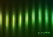 Vector Illustration of a Green Music Equalizer Royalty Free Stock Photo