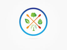 Vector Illustration Green option tree in circle icon. Vector Illustration Green tree circle icon design vector illustration