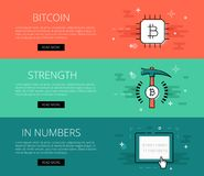 Crypto currency strength banner Stock Photo
