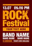 Vector illustration rock festival flyer design template with grunge effects. Vector illustration green rock festival party flyer design template with grunge stock illustration