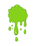 Vector illustration - green slime drips. Vector illustration - slime drips and flowing. Abstract green splash liquid. Halloween banner in cartoon style. Stain Stock Photography