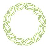 Floral wreath. A vector illustration of a green wreath with leaves royalty free illustration