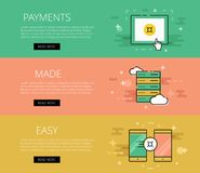 Crypto currency payments banner Royalty Free Stock Photos