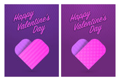 Vector illustration of greeting cards for St. Valentines Day Stock Photos