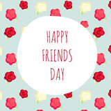 Vector illustration greeting on friendship day.  shabby chic Stock Photo