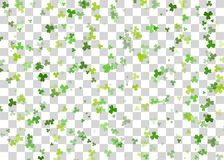 Green clover background transparent vector Stock Photo