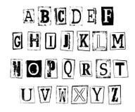 Vector illustration of grunge alphabet Royalty Free Stock Photos