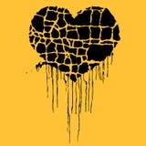 Vector illustration of grunge black heart Royalty Free Stock Photo