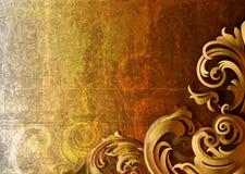 Vector Illustration - Grunge Corner Design. 3d grungy floral background -  illustration Stock Photos