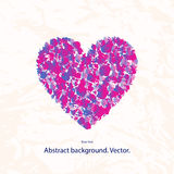Vector illustration of a grunge heart with a pattern on a light background Royalty Free Stock Image
