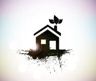 Grunge house Royalty Free Stock Photo