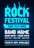 Vector illustration rock festival party flyer design template with text and flames. Vector illustration grunge metal rock festival party flyer design template royalty free illustration