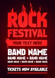 Vector illustration rock festival party flyer design template with text and flames. Vector illustration grunge metal rock festival party flyer design template vector illustration