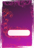 Vector illustration of grunge purple wallpaper Stock Image