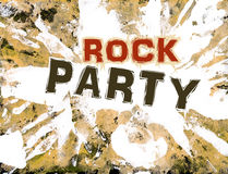 Vector illustration grunge style. Vector grunge background for rock party banner Royalty Free Stock Photography
