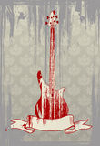 Vector illustration of grungy bass guitar Royalty Free Stock Photo