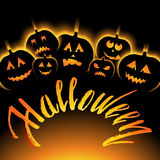 Vector illustration of Halloween Background with Pumpkin Stock Image