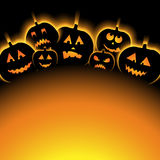 Vector illustration of Halloween Background with Pumpkin Stock Photo