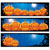 Vector illustration of halloween banners Royalty Free Stock Photo