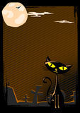 Vector illustration of Halloween cat Royalty Free Stock Image