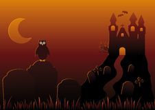 Vector Illustration of Halloween Night royalty free stock image