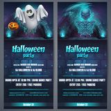 Vector illustration Halloween party flyer stock illustration