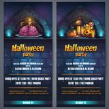 Vector illustration Halloween party flyer vertical royalty free illustration
