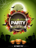 Vector illustration on a Halloween Party theme. Stock Photos