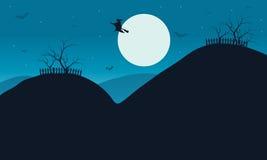 Vector Illustration of Halloween silhouette Stock Photos