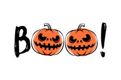 Vector illustration of halloween sound boo Stock Photography
