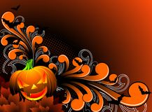 Vector illustration on a Halloween theme Royalty Free Stock Photo