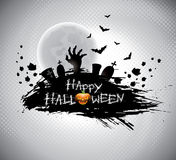 Vector illustration on a Halloween theme. Stock Images