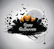 Vector illustration on a Halloween theme. Stock Image
