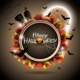 Vector illustration on a Halloween theme. Royalty Free Stock Images