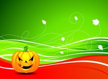 Vector illustration on a Halloween theme Stock Image