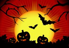 Vector illustration on a Halloween theme stock images