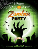 Vector illustration on a Halloween Zombie Party th royalty free stock images