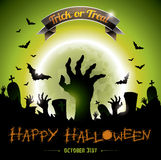Vector illustration on a Halloween Zombie Party theme. Royalty Free Stock Photos
