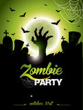 Vector illustration on a Halloween Zombie Party theme Stock Images