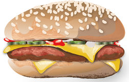 Vector illustration of a hamburger. Stock Photo