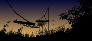 Vector illustration of Hammock Stock Photos